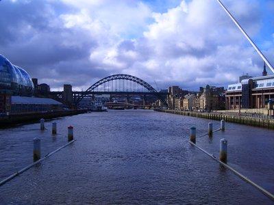 Newcastle upon Tyne, from the Millenium Bridge