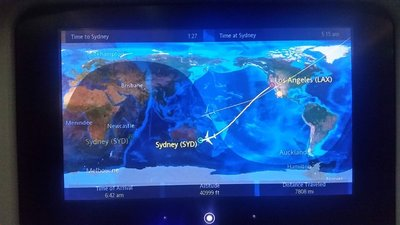 Inflight route map