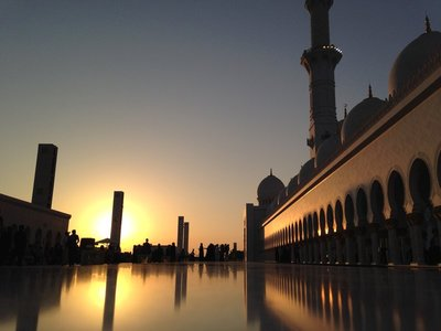 Sunset at Sheikh Zayed Mosque, Abu Dhabi UAE