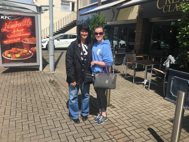 Myself and Lauren at lunch in Ayr