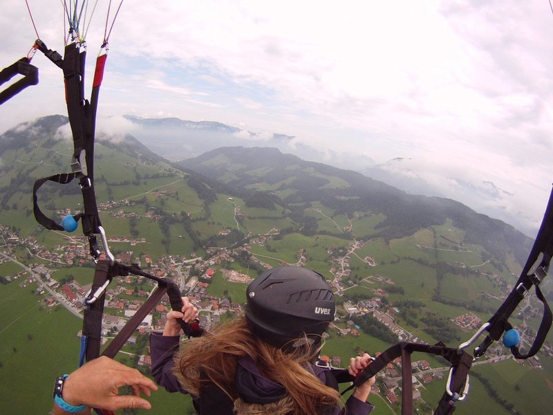 Paragliding in the Austrian Alps