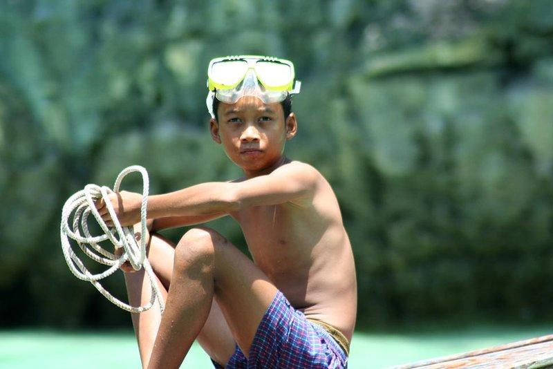 Boy on Boat