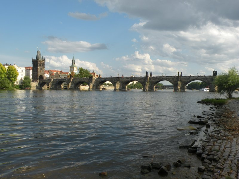 The iconic Charles bridge, Prague