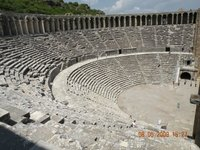 Well preserved Roman era Amphitheatre at Aspendos, Turkey