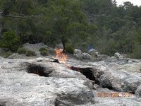 Eternal flame at Olympos, Turkey