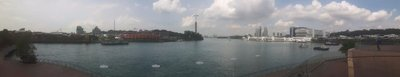 View of sentosa from Singapore