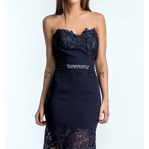 www zumprom com Style 1521E0366 Strapless Lace Gown By Terani Couture Evening