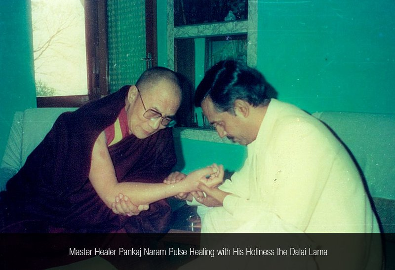 Master Healer Pankaj Naram Pulse Healing with His Holiness the Dalai Lama