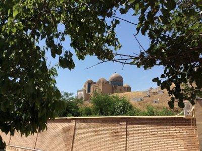 Shah-i-zinda from afar, Samarkand