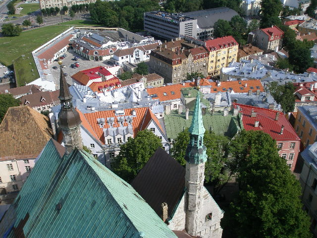 View of Tallinn from church tower