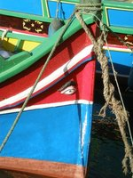 Maltese fishing boat with lucky eye
