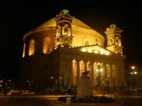 Mosta Dome by night