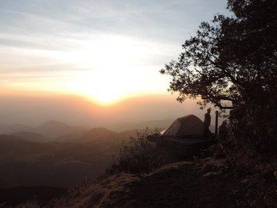 Volcano camping