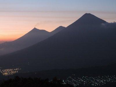 Trio of volcanoes