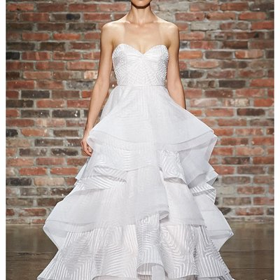 httpwwwoibridalcom Hayley Paige - Spring 2014 - Style 6400 Lana Strapless Geometric Ball Gown Wedding Dress With Sweetheart Bodice