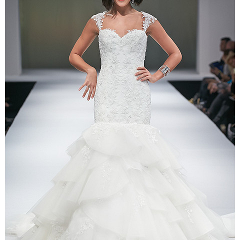 oibridal com Eve Of Milady - Fall 2014 - Style 1528 Beaded Mermaid Wedding Dress With Sweetheart Neckline