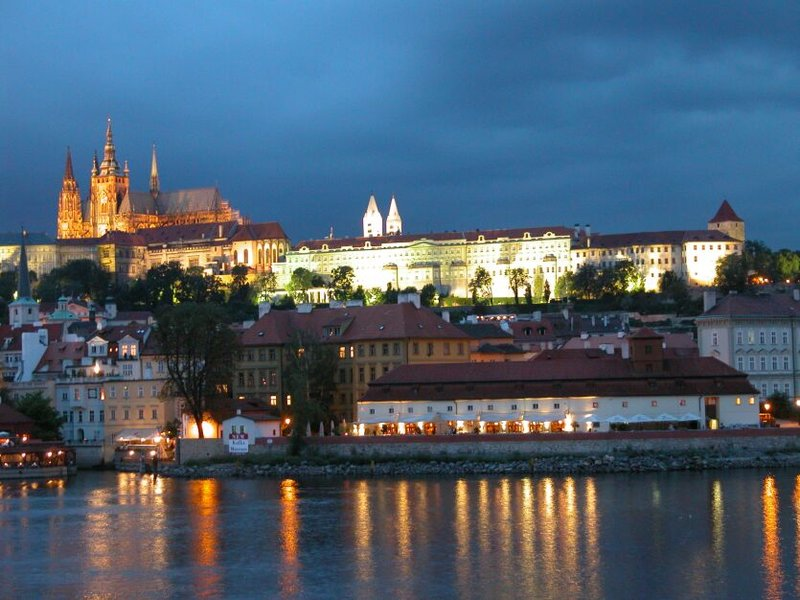 Prague Castle Illuminated