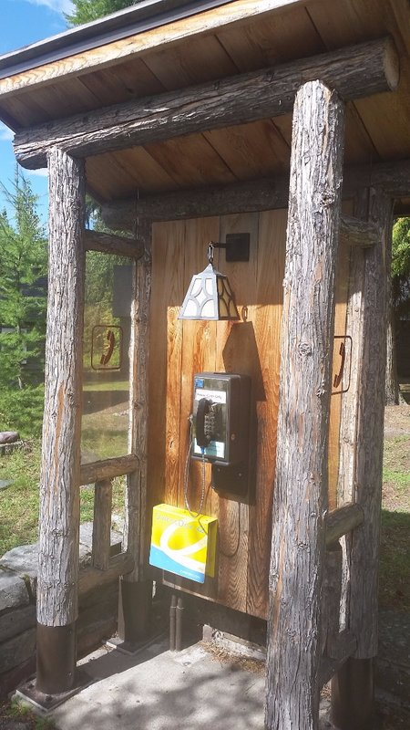 Phone Booth - Glacier National Park
