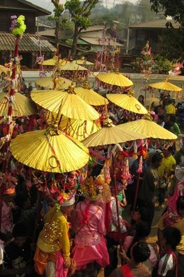 Golden Umbrellas
