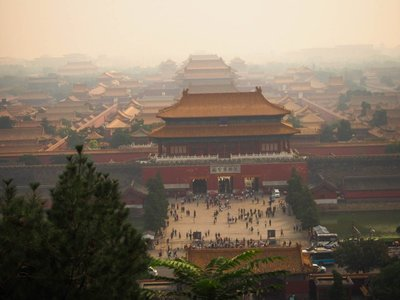 Forbidden city from the Summer Palace.