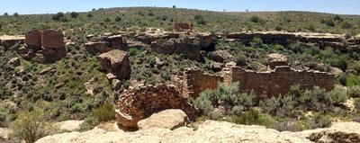 Hovenweep National Monument across the canyon
