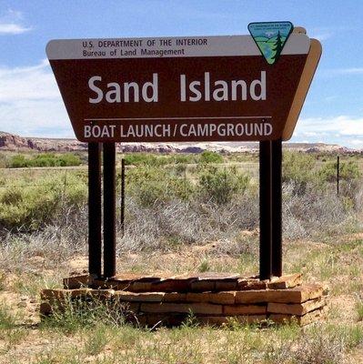 Sand Island Sign