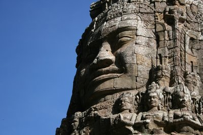 The mighty Bayon faces at Angkor Thom