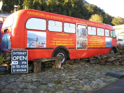 red internet bus - franz josef, by geranddebs