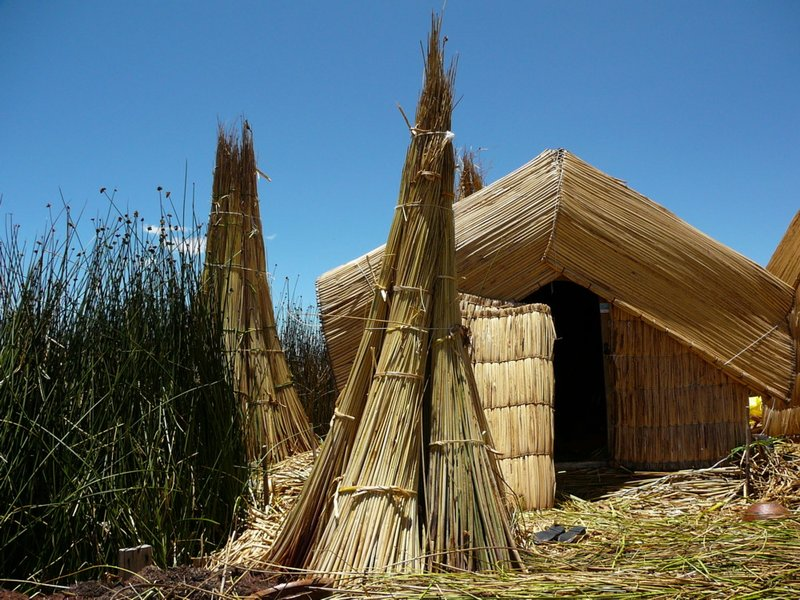 Hut on Lake Titicaca's Uros Islands
