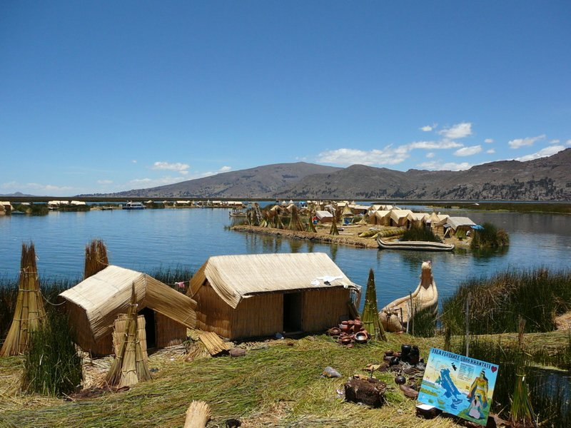 Uros Islands on Lake Titicaca