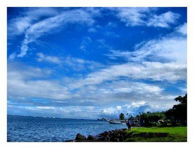 Pirogue in Tahiti