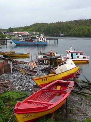 Boats at Puerto Eden