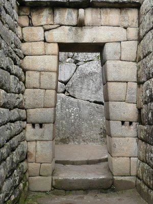An Inca doorway in Machu Picchu