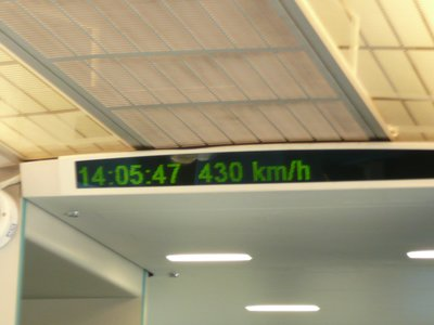 Top speed on the Maglev