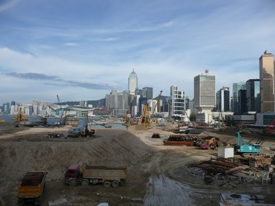 Land reclaimation in Hong Kong