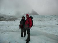 lisa and andrew on glaciar torre