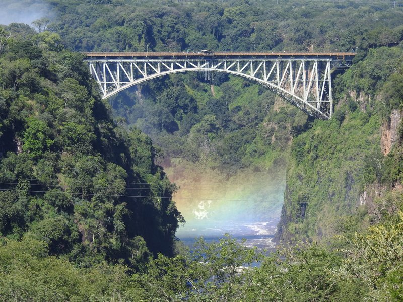 View from Terrace at Victoria Falls Hotel