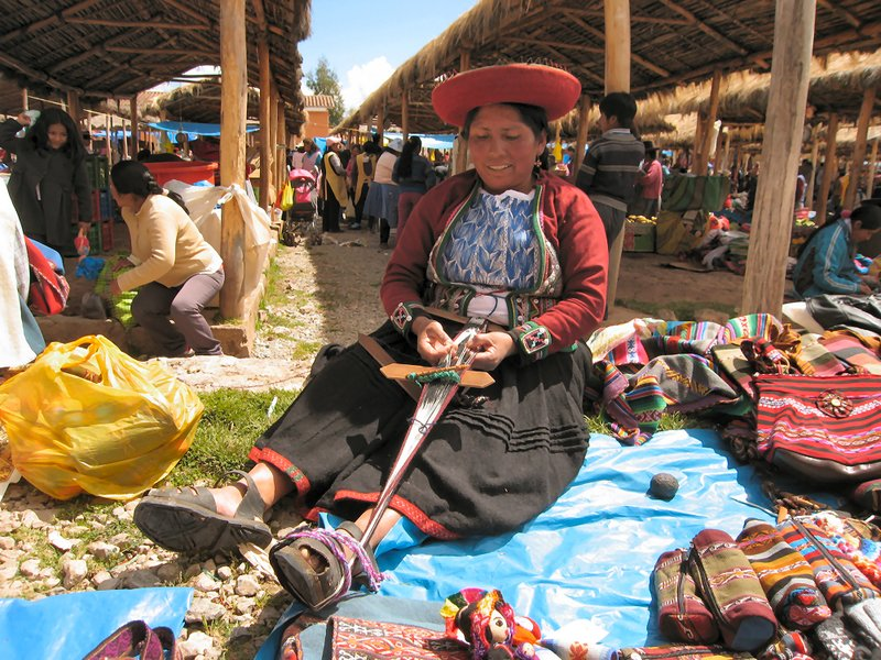 Weaver in Chinchero Market
