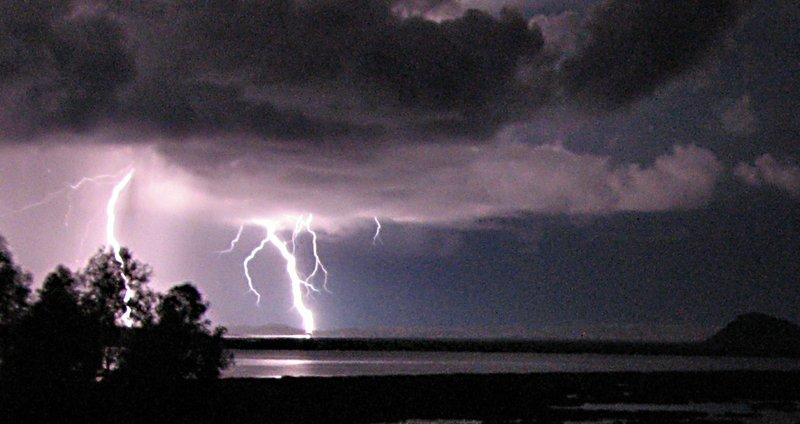 Lightning Storm over Lake Titicaca, Peru