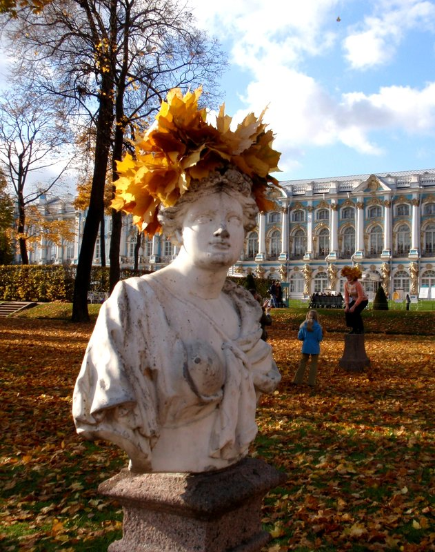 Statue in autum