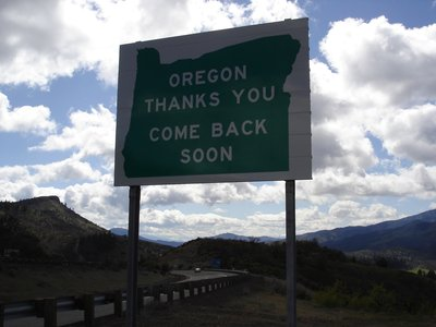 Leaving Oregon
