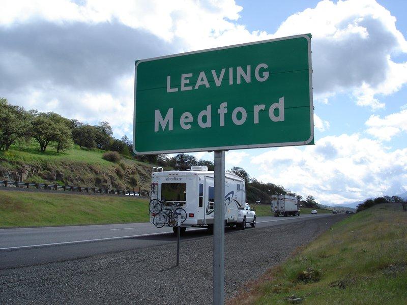 Leaving Medford