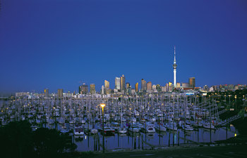 Auckland Night Cityscape