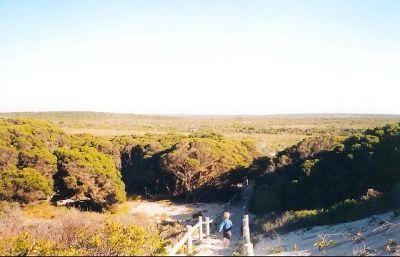 Hopetoun WA beach path over dunes - Hopetoun