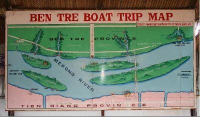 Ben Tre Province Mekong Delta Map - Ho Chi Minh City