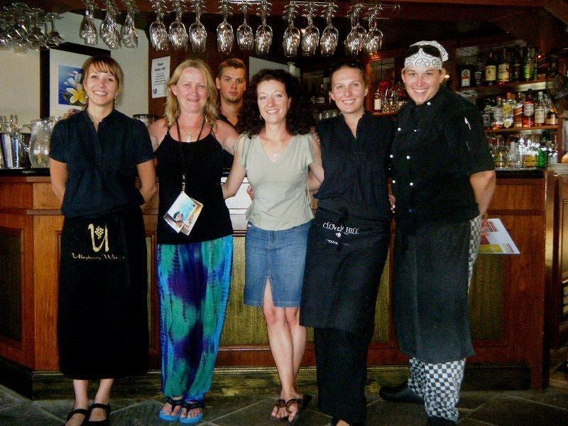 aussirose with owner and staff of Deja vu Restaurant - Airlie Beach