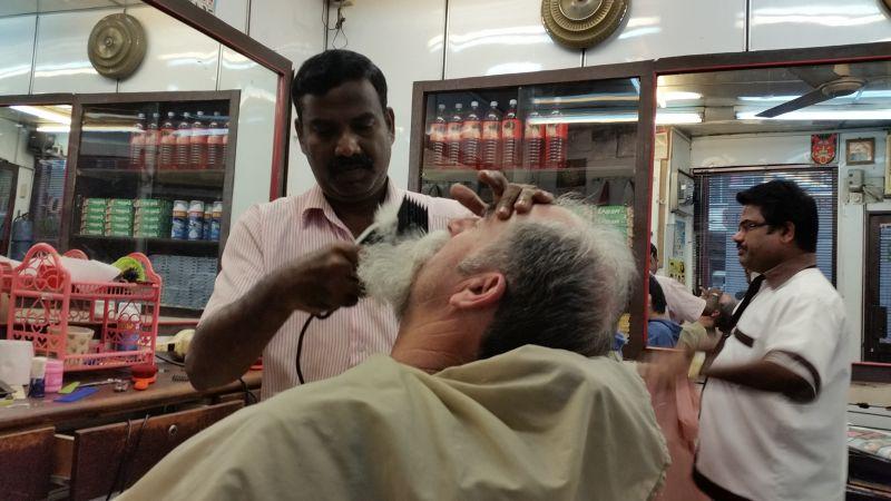Howie getting beard cut - Stylo China Town KL - Kuala Lumpur