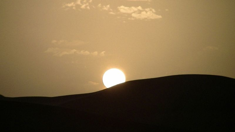 Sunset over Sahara Desert Dunes by aussirose - Morocco