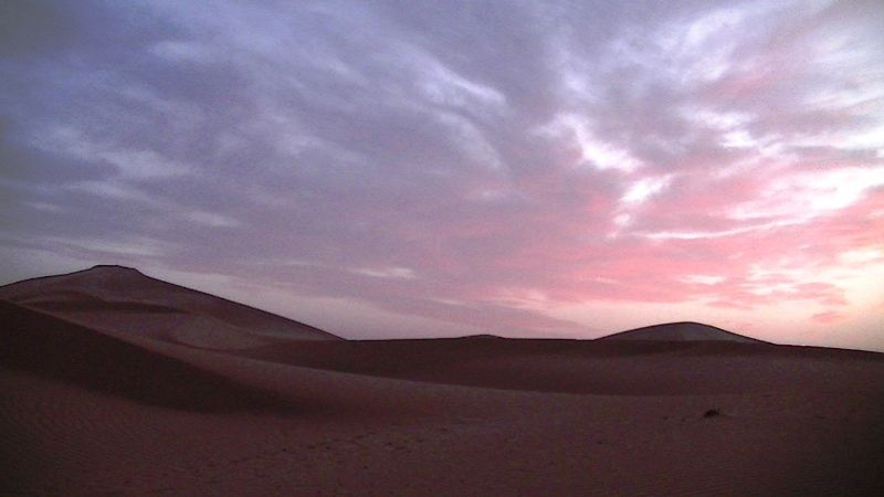 Sahara Desert sunset at campsite by aussirose - Morocco