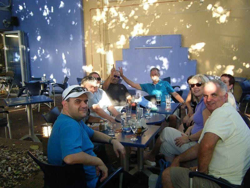 Survivor crew at Wisdom Bar and Grill  - Darwin